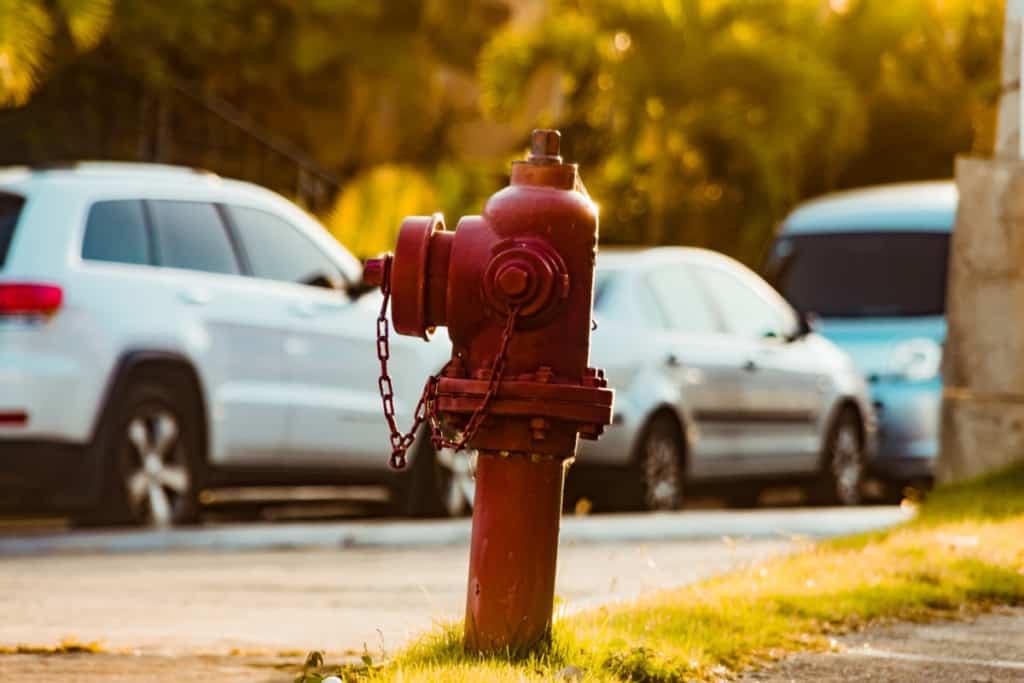 dry barrel fire hydrant on street