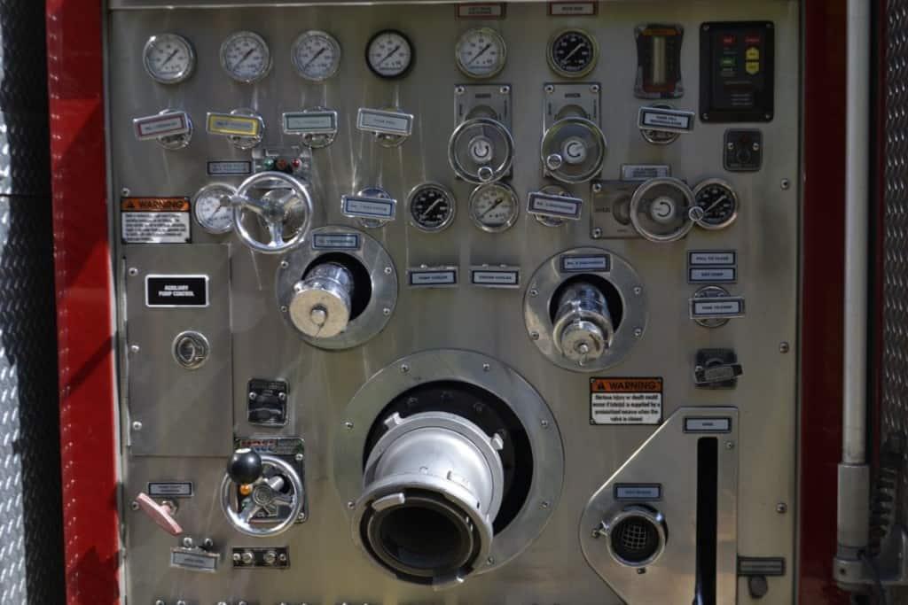 fire engine pump control panel