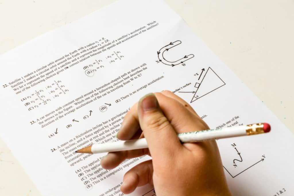 written math test questions