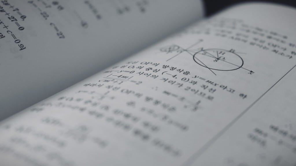 math equations in a book