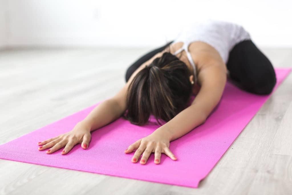 woman doing yoga pose