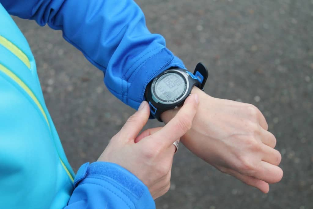 jogger wearing watch