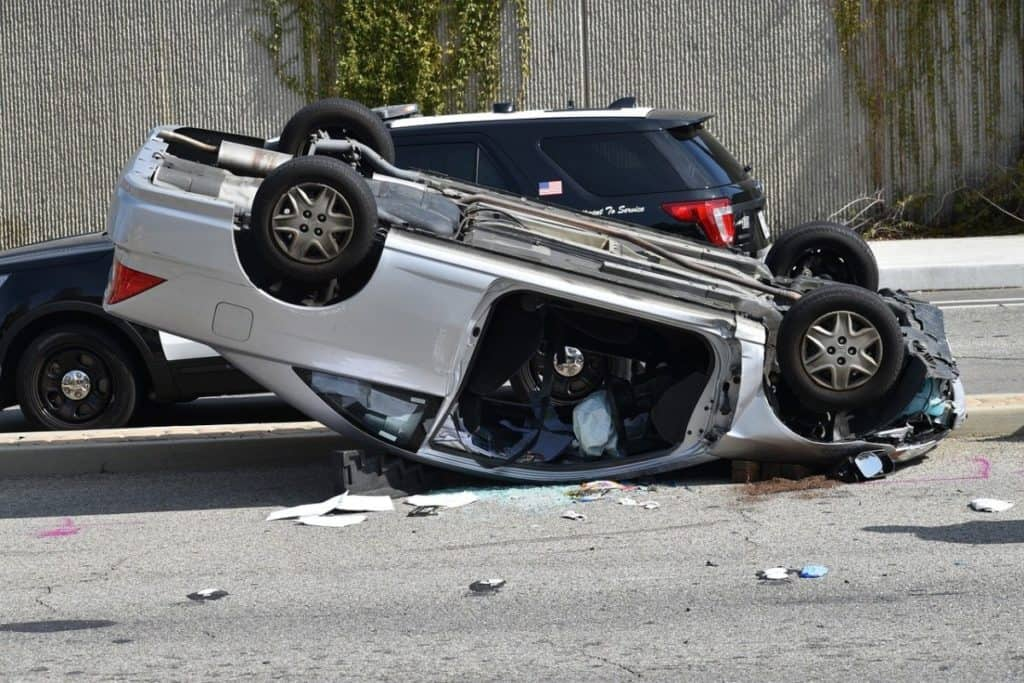 car accident (rollover)