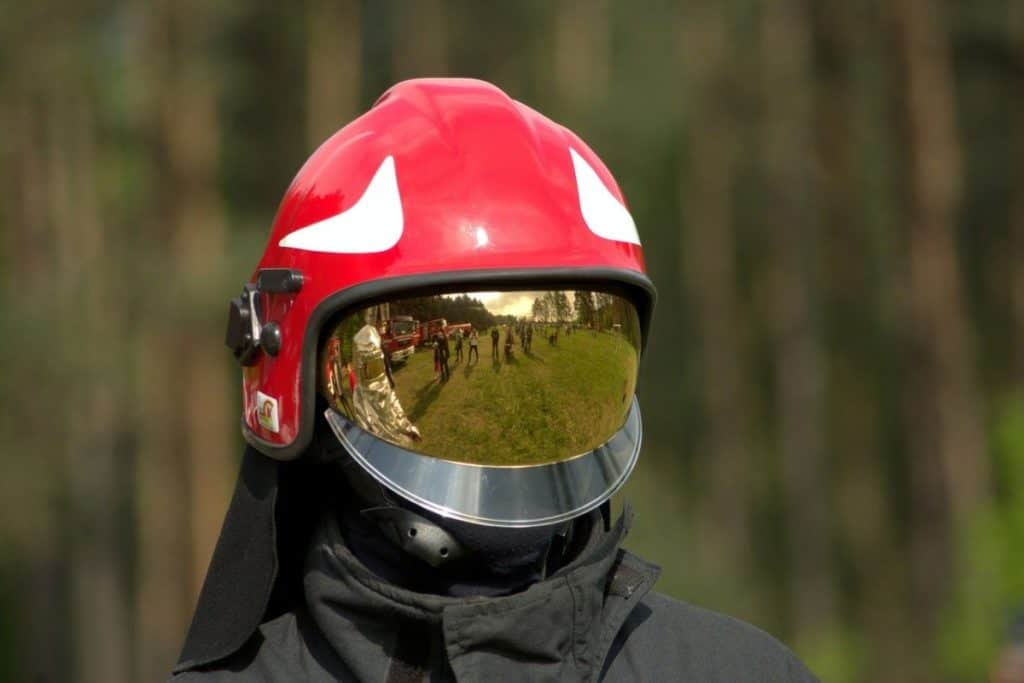European fire helmet