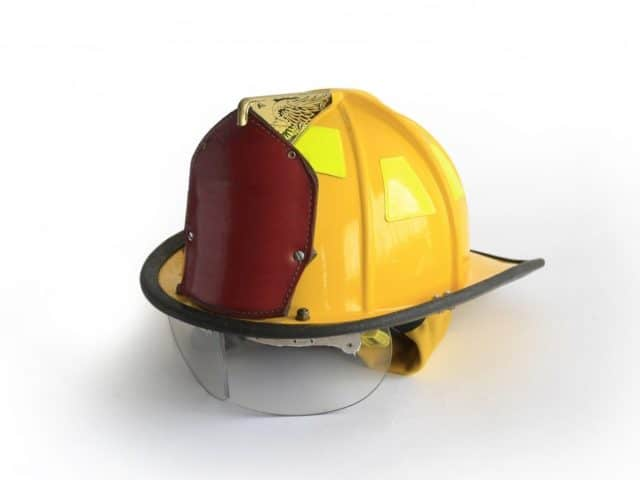 why are fire helmets shaped that way