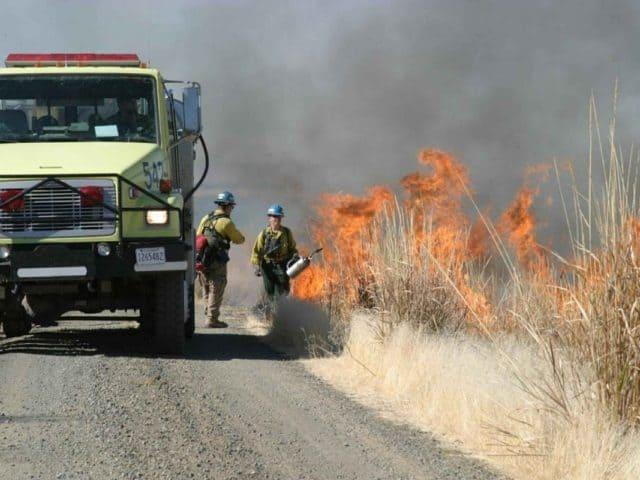 why firefighter set backfires