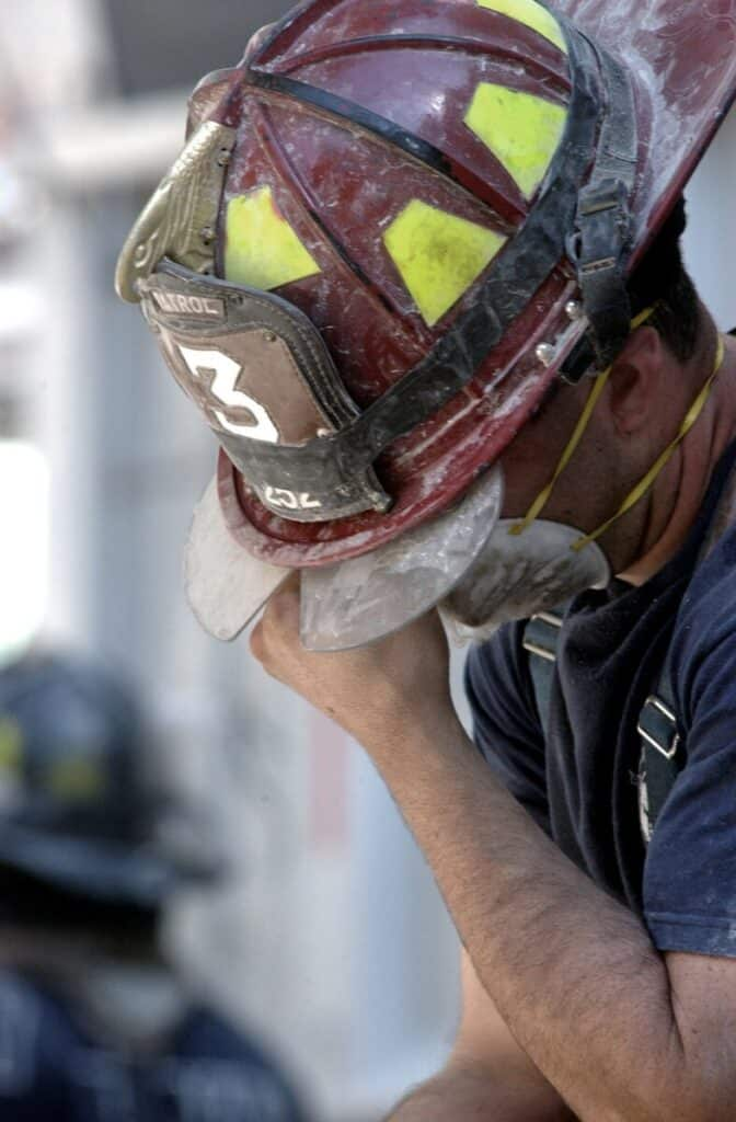 firefighter stressed