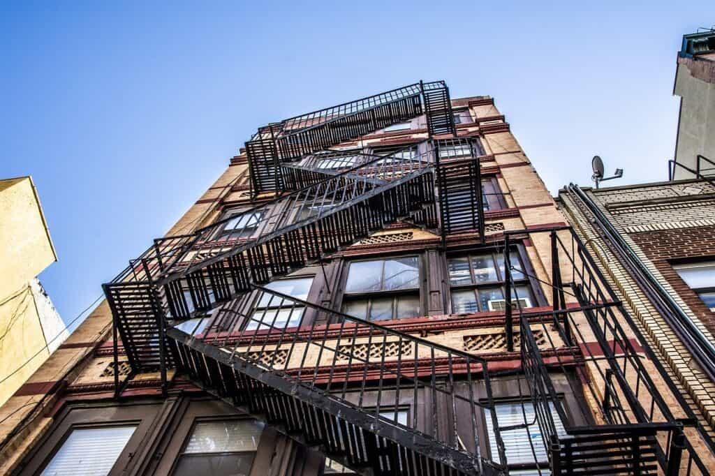 high rise building fire escape