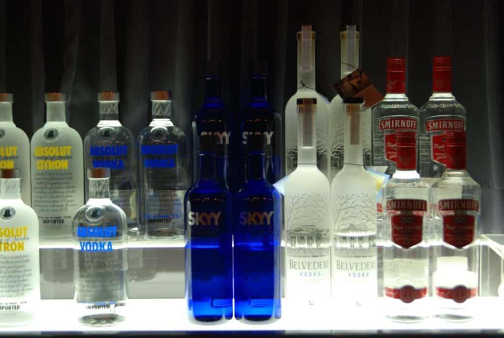 is vodka flammable