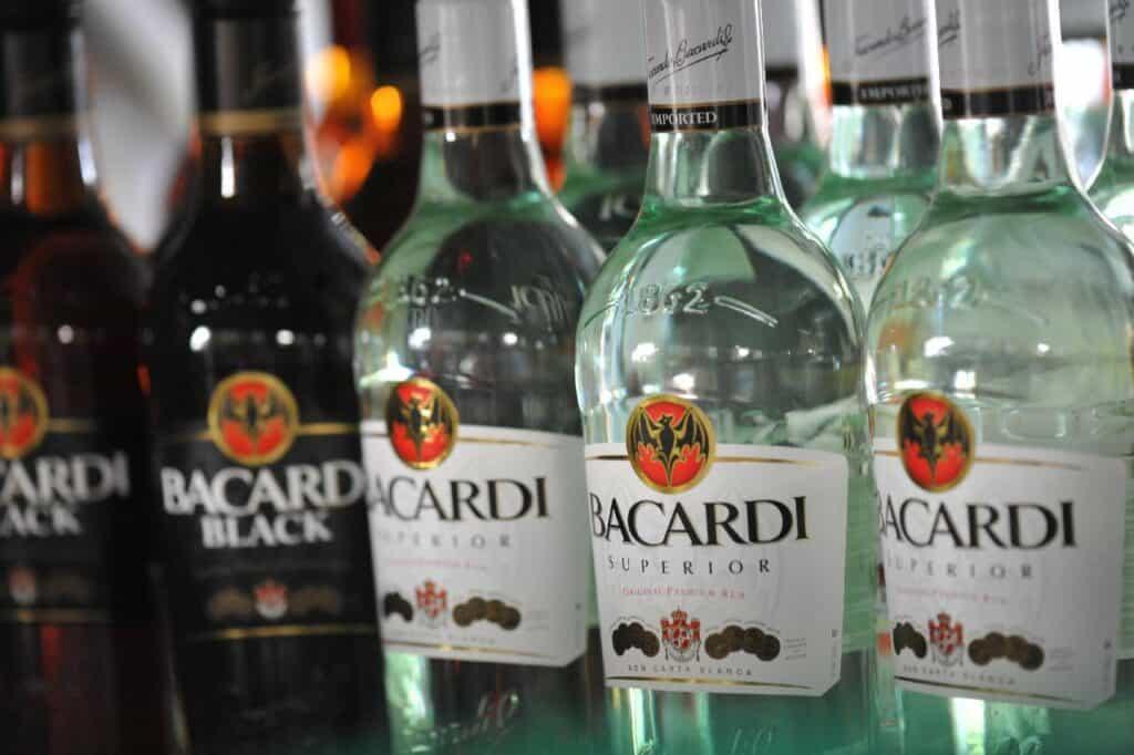 is Bacardi rum flammable