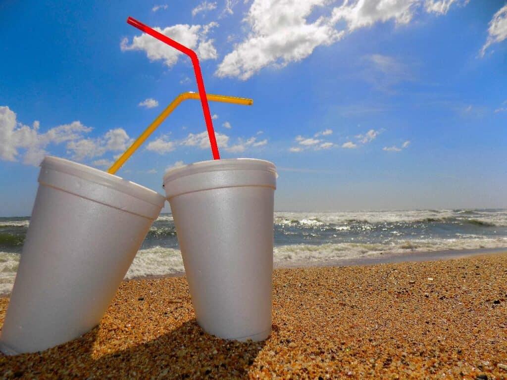 polystyrene cups
