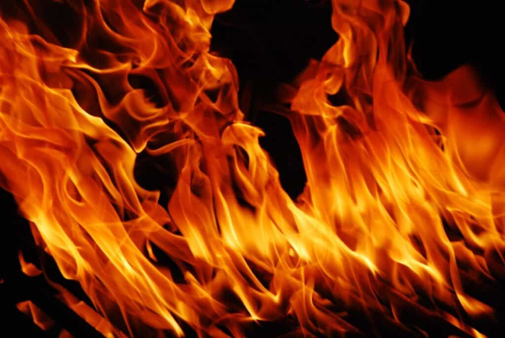does epoxy catch fire?