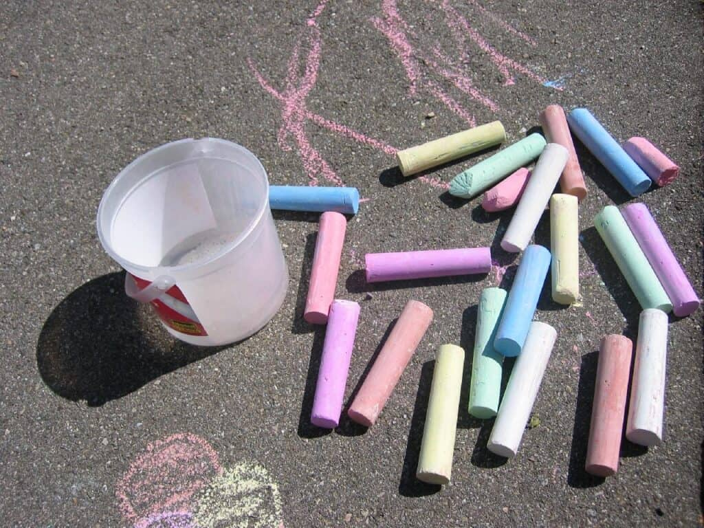 is chalk flammable?