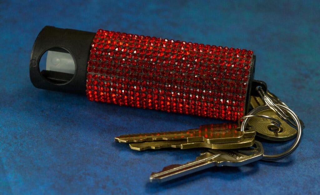 pepper spray key chain