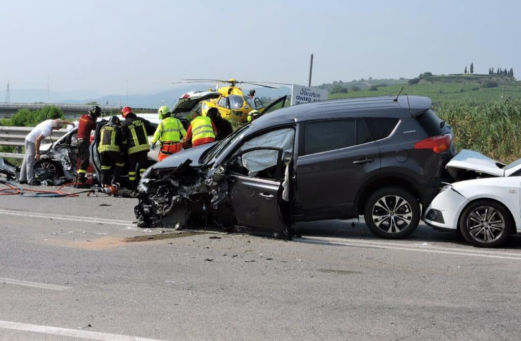 responders working on car accident