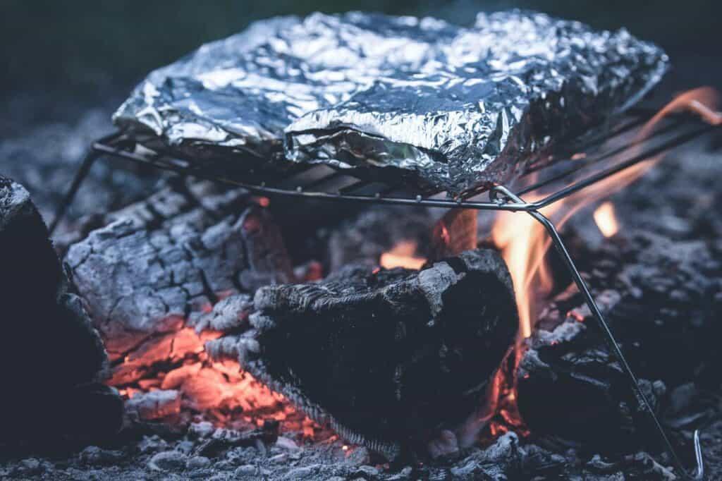 aluminum foil fire