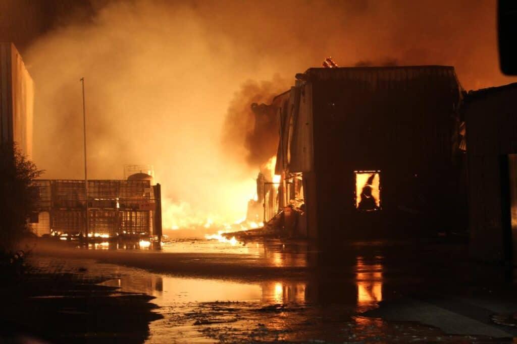 carbon monoxide fire