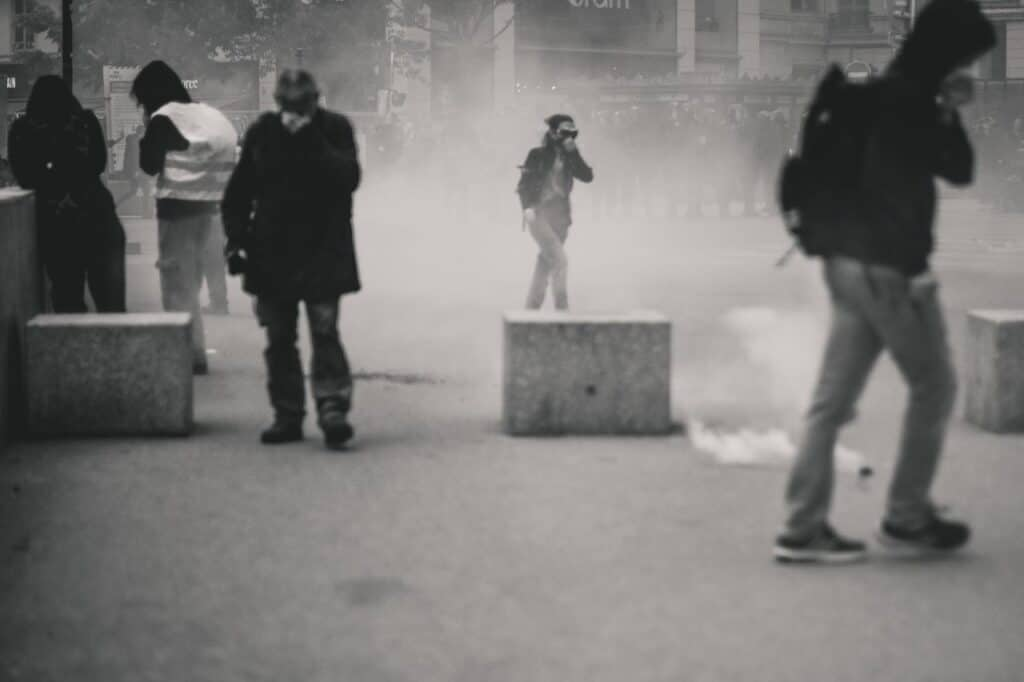 tear gas in public