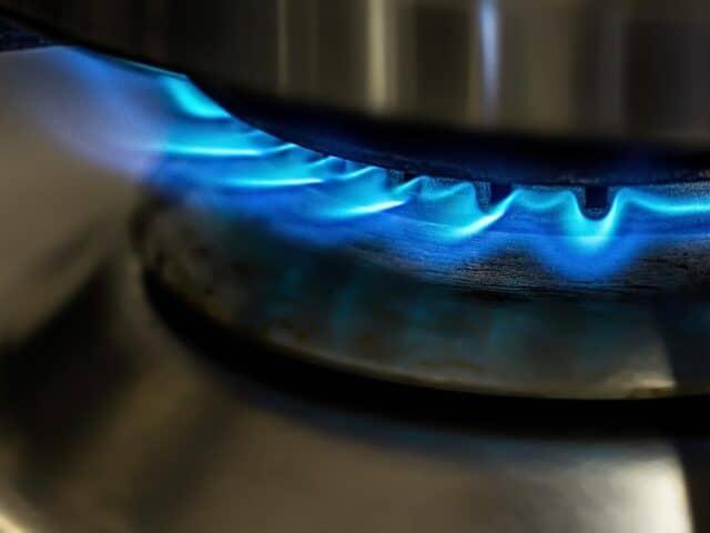 methane (natural gas) burning stove