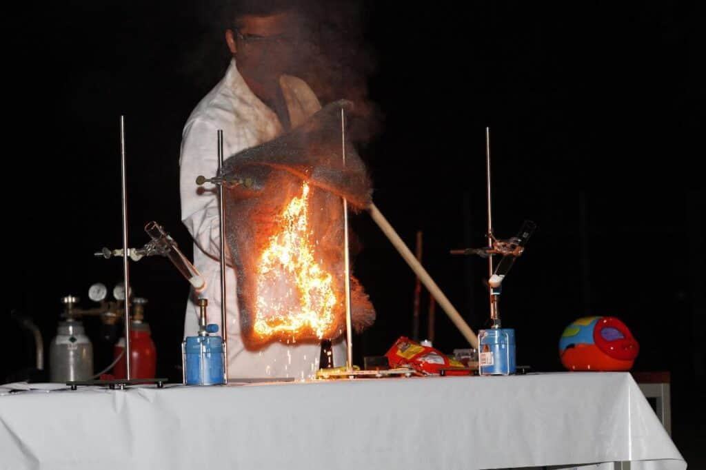 steel wool burning