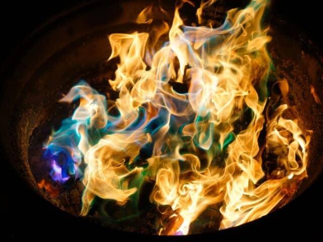acetone fire